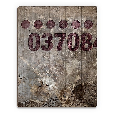 Click Wall Art 'Industrial Wine 037084' Graphic Art on Plaque; 12'' H x 9'' W x 1'' D