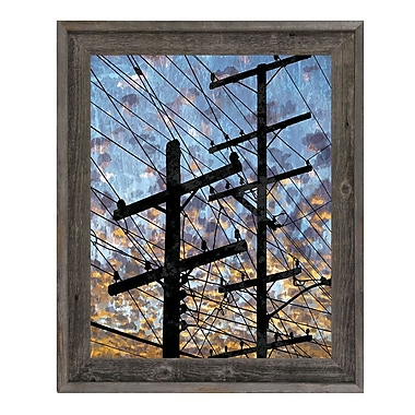 Click Wall Art 'Electric Link' Framed Graphic Art; 27.5'' H x 23.5'' W x 1'' D