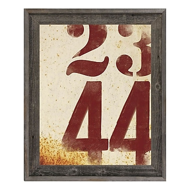 Click Wall Art 'Faded Numbers' Framed Graphic Art; 17.5'' H x 14.5'' W x 1'' D