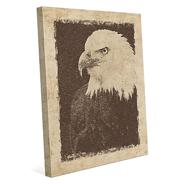 Click Wall Art 'Vintage Eagle' Graphic Art on Wrapped Canvas; 20'' H x 16'' W x 1.5'' D