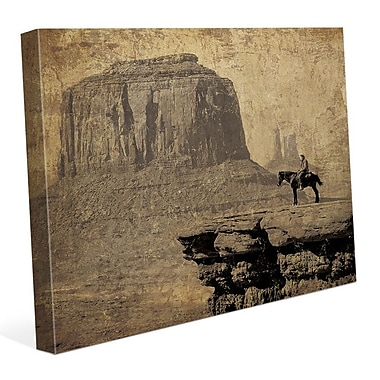 Click Wall Art 'Western Mountains' Graphic Art on Wrapped Canvas; 11'' H x 14'' W x 1.5'' D