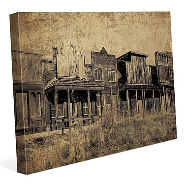 Click Wall Art 'Western Town' Graphic Art on Wrapped Canvas; 16'' H x 20'' W x 1.5'' D