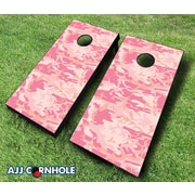 Click here to buy AJJCornhole 10 Piece Camo Cornhole Set; Red/Black.