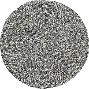 Capel Sea Pottery Smoke Variegated Outdoor Area Rug; Round 3'