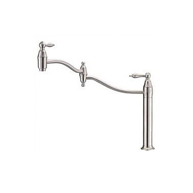 Danze Fairmont Single Hole Pot Filler w/ Cold Water Dispenser; Distressed Nickel