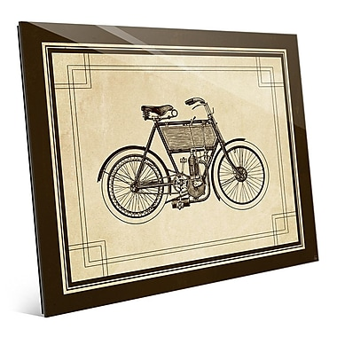 Click Wall Art 'Vintage Bike' Graphic Art; 20'' H x 24'' W x 1'' D