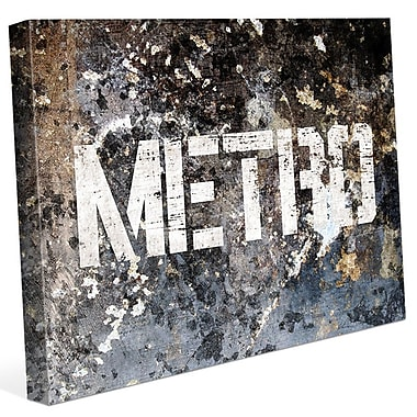 Click Wall Art 'Industrial Metro Glaucous ' Graphic Art on Wrapped Canvas; 30'' H x 40'' W x 1.5'' D