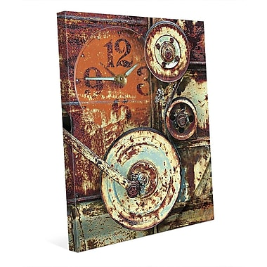 Click Wall Art 'Industrial Wheels' Graphic Art on Wrapped Canvas; 10'' H x 8'' W x 0.75'' D