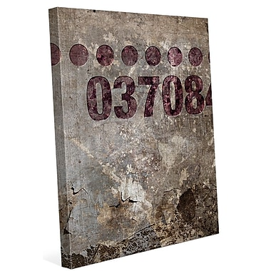 Click Wall Art 'Industrial Wine 037084' Graphic Art on Wrapped Canvas; 30'' H x 20'' W x 1.5'' D