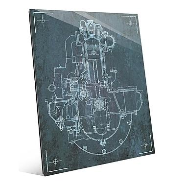 Click Wall Art 'Engine Sketch' Graphic Art; 24'' H x 20'' W x 1'' D