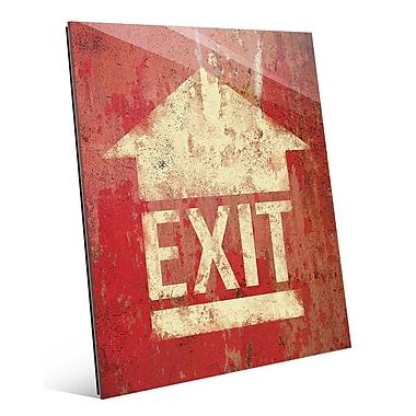 Click Wall Art 'Exit' Graphic Art; 10'' H x 8'' W x 1'' D