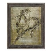 Click Wall Art 'Ecru Buckskin' Framed Graphic Art; 23.5'' H x 19.5'' W x 1'' D