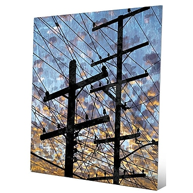 Click Wall Art 'Electric Link' Graphic Art; 24'' H x 20'' W x 0.04'' D