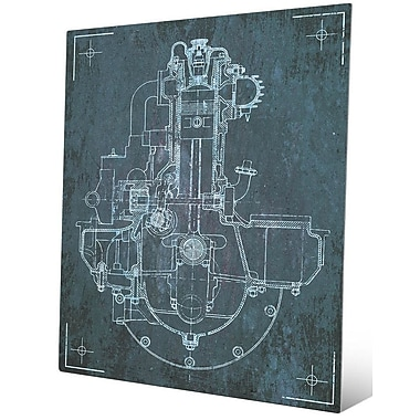 Click Wall Art 'Engine Sketch' Graphic Art; 24'' H x 20'' W x 0.04'' D