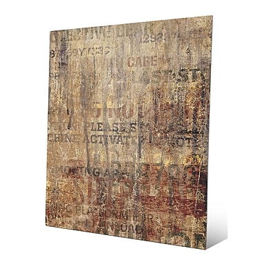Click Wall Art 'Grungy Typography' Graphic Art; 20'' H x 16'' W x 0.04'' D