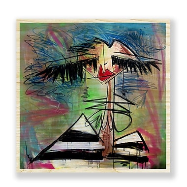 Two Palms Art Bazaar 'Miami Tan' by Jenny Perez Painting Print on Plaque; 46'' H x 46'' W x 1'' D