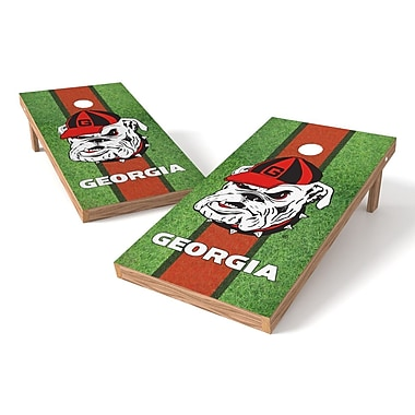 Tailgate Toss NCAA Field Cornhole Game Set; Georgia Bulldogs