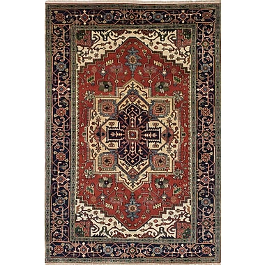 ECARPETGALLERY Serapi Heritage Hand-Knotted Red/Beige Area Rug
