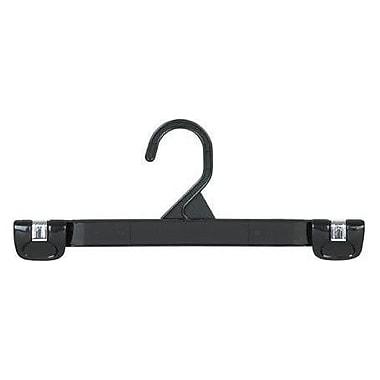 Only Hangers Inc. Plastic Gripper Hanger w/ Stationary Hook (Set of 25); Black