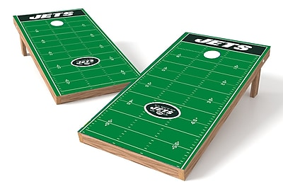 Tailgate Toss NFL Football Field Cornhole Game Set; New York Jets WYF078278971173