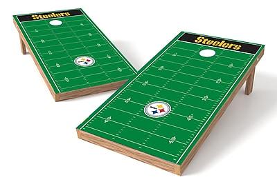 Tailgate Toss NFL Football Field Cornhole Game Set; Pittsburgh Steelers