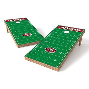 Tailgate Toss NFL Football Field Cornhole Game Set; San Francisco 49ers