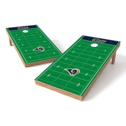 Tailgate Toss NFL Football Field Cornhole Game Set; St Louis Rams