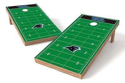 Tailgate Toss NFL Football Field Cornhole Game Set; Carolina Panthers
