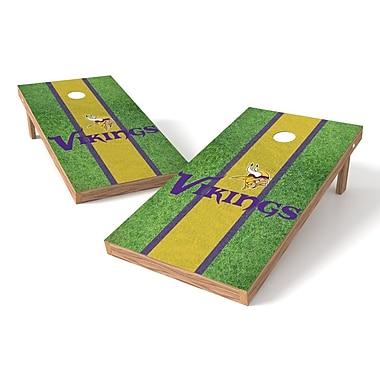 Tailgate Toss NFL Field Cornhole Game Set; Minnesota Vikings