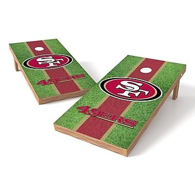 Tailgate Toss NFL Field Cornhole Game Set; San Francisco 49ers