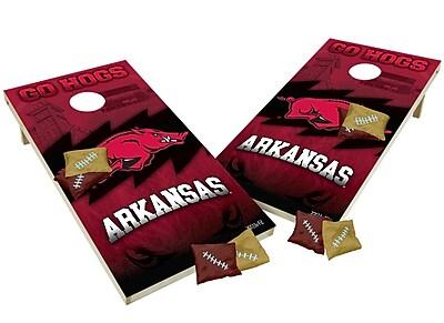 Tailgate Toss NCAA Shied Design Game Cornhole Set; Arkansas Razorbacks