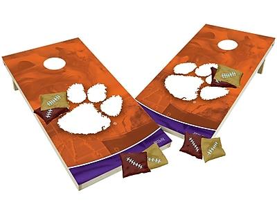 Tailgate Toss NCAA Shied Design Game Cornhole Set; Clemson Tigers