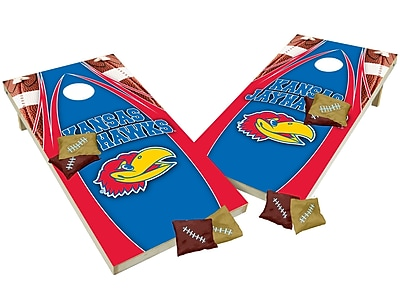 Tailgate Toss NCAA Shied Design Game Cornhole Set; Kansas Jayhawks