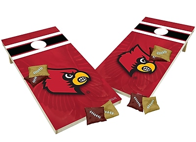 Tailgate Toss NCAA Shied Design Game Cornhole Set; Louisville Cardinals