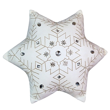 Rightside Design Holiday Snowflake Throw Pillow