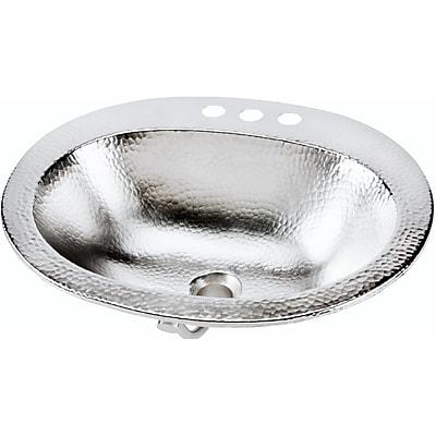 Sinkology Dalton Metal Oval Undermount Bathroom Sink w/ Overflow