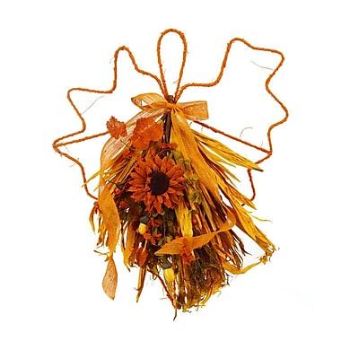 SheasWildflowers Cinnamon Sunflower Maple Leaf Door Swag