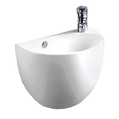 Whitehaus Collection Isabella Vitreous China 15'' Wall Mount Bathroom Sink w/ Overflow