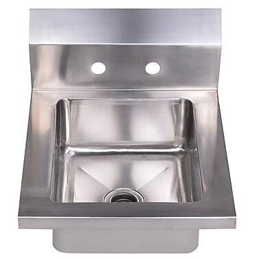 Whitehaus Collection Noah's 14'' x 16.5'' Single Bowl Drop-In Hand Kitchen Sink