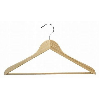 Only Hangers Inc. Bamboo Suit Hanger w/ Bar (Set of 50); Light Lacquer