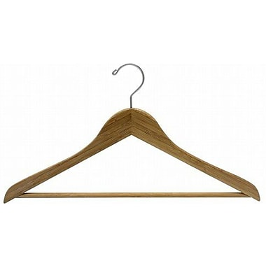 Only Hangers Inc. Bamboo Suit Hanger w/ Bar (Set of 50); Dark Lacquer