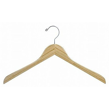 Only Hangers Inc. Bamboo Top Hanger (Set of 25); Light Lacquer