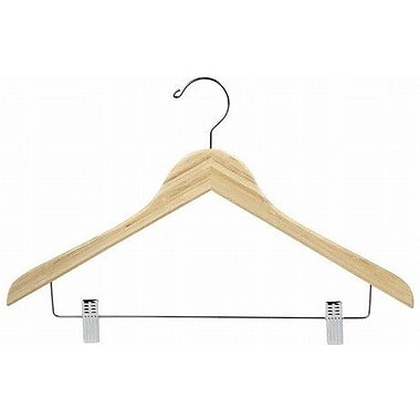 Only Hangers Inc. Bamboo Suit Hanger w/ Clips (Set of 50); Light Lacquer