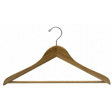 Only Hangers Inc. Bamboo Suit Hanger w/ Bar (Set of 25); Dark Lacquer