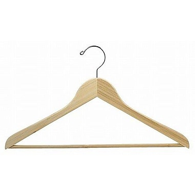 Only Hangers Inc. Bamboo Suit Hanger w/ Bar (Set of 25); Light Lacquer