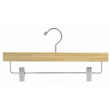 Only Hangers Inc. Bamboo Pant/Skirt Hanger w/ Clips (Set of 100); Light Lacquer