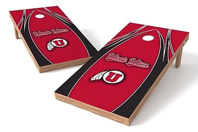 Tailgate Toss NCAA Shied Design Game Cornhole Set; Utah Utes