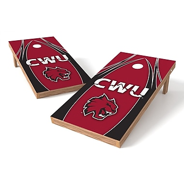 Tailgate Toss NCAA Cornhole Game Set; Central Washington Wildcats