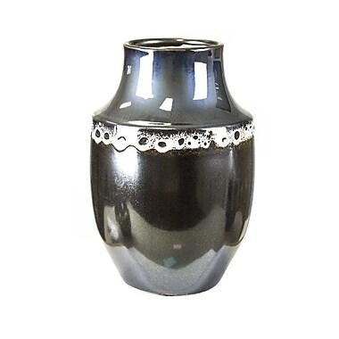 Sagebrook Home Ceramic Vase; 9'' H x 6'' W x 6'' D
