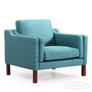 Kardiel Monroe Mid Century Modern Arm Chair; Dutch Blue